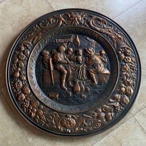 Copper plate wall decor